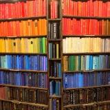 Colour gradient bookshelf