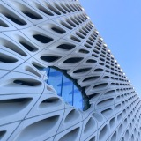 The outside of The Broad